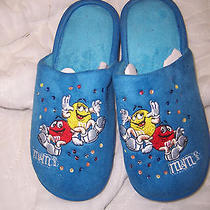 New Women's Slippers From Avon M & m's Size 9-10 Photo