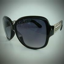 New Women's Steve Madden S5599  Silver Oversized Sunglasses Photo