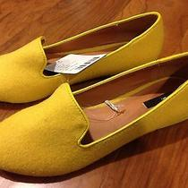 New Women's Urban Outfitters Bdg Cotton Flats Shoes Size 7 Yellow Nwt Photo