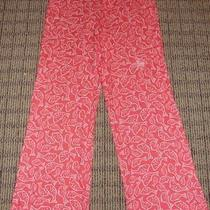 New Women's Vineyard Vines Catch of the Day Pink Patio Rayon Pants Large Rare Photo
