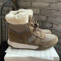 New Women's Weatherproof Chloe Leather Winter Boot Tan / Blue Pick Size Photo
