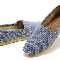 New Women Toms Blue Farrin Pop  Yellow  Sandals Flats  Slip-on Shoes  8.5 Photo