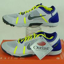 New Womens 9 Nike Lunar Element Gray Purple Running Shoes 95 615743-100 Photo