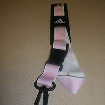 New Womens Adidas Light Pink Lanyard Key Chain Necklace Girls Photo