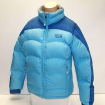 New Womens Aqua Blue Mountain Hardwear Hunker Down 650 Fill Winter Jacket Coat L Photo