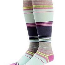 New Womens Billabong Skate Surf Abiding Bedford Stripe Knee Boot Socks  Photo