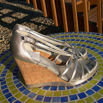 New Womens Coach Joslin Wedge Metallic Heel Sandals Sz 10 Free Sh Photo
