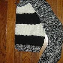 New Womens Express Crop Knit Sweater Blk and Wht  Size Xs Photo