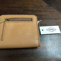 New Womens Fossil Brand Leather Madison Bifold Tan Wallet Nwt 44 Photo