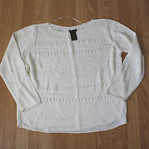New Womens Grace Elements Ivory Tower Knitted Sweater Shirt Sz 2xl Xxl Photo