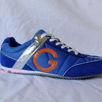 New Womens Guess 'Docia' Sneaker Sz 10 Blue G Suede/nylon Shoes  Marciano Photo