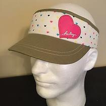 New Womens Hurley Heart Visor White Hat Stretch Nwot Photo