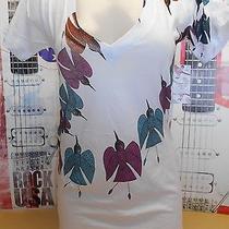 New Womens Juniors Rvca Skater Surfer Humming Bird Graphics White Photo