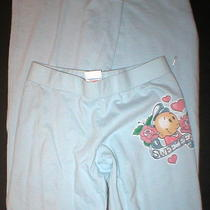 New Womens Junk Food Premium Sweet Pea Pants S Small Light Blue Cotton Baby Rose Photo
