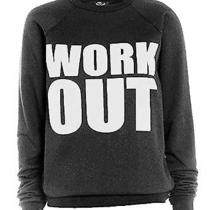 New Womens Ladies Like a Boss Work Out Print Jumper Sweatshirt Sweater 8-14 Photo