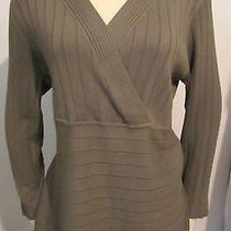 New Womens Ladies Style & Co Gray & Black Leopard Design Tunic Sweater Top L Photo