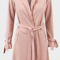 New Womens Lipsy Dusky Blush Pink Mac Jacket Trench Coat Size 8. Michelle Keegan Photo