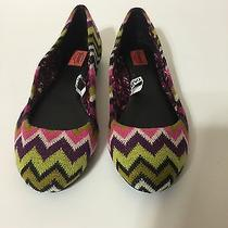 New Womens Missoni for Target Multi-Color Zig Zag Flats Shoes Size 6 Photo
