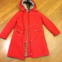 New Womens Mojo S Phine New York 100% Rabbit Fur Coat Parker Jacket Red Sz Small Photo