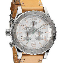 New Womens Nixon the 42-20 Chrono Leather Watch Ladies Watch Photo