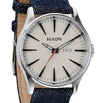 New Womens Nixon the Sentry Leather Watch Ladies Watch Photo