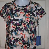 New Womens Simply Vera Vera Wang White Blue Black Etc Top Shirt Petite Small Ps Photo