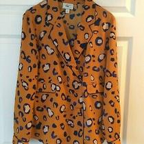 New Wot 3.1 Phillip Lim for Target Orange Leopard Blazer Jacket - Women's Size L Photo