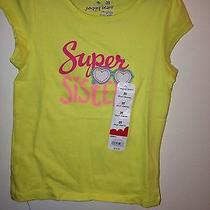 New Wt Jumping Beans Girl's 3t Cotton Yellow Graphic Tee Shirt Super Sister Photo