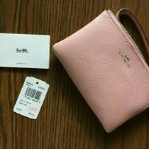 New Wtags Coach F58032 Corner Zip Wristlet Wallet 75 Photo