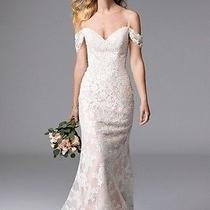 New Wtoo Willowby Winnifred 17126 Ivory Lace Blush Wedding Dress Size 10 Photo