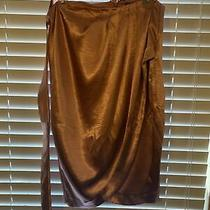 New York & Co. 7th Avenue Rose Gold Wrap Skirt Size 14 Photo