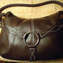 New York & Company Handbag With Braided Strap & Silver Rings-Free Shipping Photo