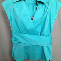 New York & Company Teal Blue Blouse Sleeveless Shirt Career/casual Sz 10 Nwt Photo