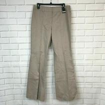 New York & Company Womens Hudson Pants Flare Leg Back Detail Tan City Fashion 8 Photo