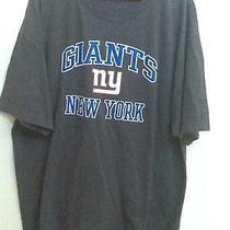 New York Giants  Nfl Team Apparel Xxl Dark Gray Graphic Print T-Shirt Euc Photo