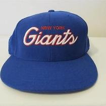 New York Giants Reebok Fitted 7 1/4 Cap Hat 100% Wool Photo