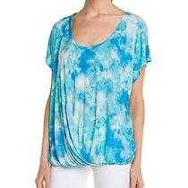 New Young Fabulous & Broke Draped Omne Top (S/m) Blue Cloud Tie Dye Dolman 130 Photo