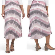 New Young Fabulous & Broke Felicity Tie Dyed Slip Skirt Plum Size Small Photo