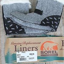 New Youth 4 Sorel Pac Replacement Boot Inserts Liners Felt Socks Fur Top Photo