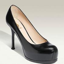 New Ysl Yves Saint Laurent Tribtoo 80 Platform Pump Shoes Size 37.5 795 Photo