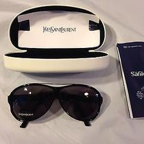 New Yves Saint Laurent 2218/s Women's Dark Horn Sunglassesblack & Gold Photo