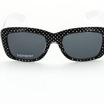 New Yves Saint Laurent Ysl Sunglass Ysl 2320/s in Black White Poka Dot (0iui)  Photo