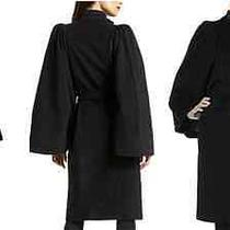New Zac Posen Black Wool/cashmere Coat Size 4 - Nwt Retailed for 1450 Photo