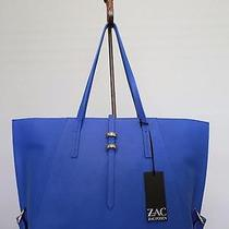 New Zac Posen Eartha Saffiano Leather Tote-Cobalt Blue-495 Msrp-Handbag-Shopper Photo