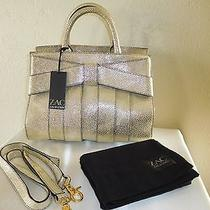 New Zac Zac Posen Small Bow Metallic Gold Satchel Shoulder Handbag Purse  Photo