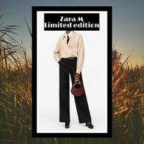 New Zara Jumpsuit M Limited Edition Smart Striped Shirt Bnwt Blogger Sold Out Photo