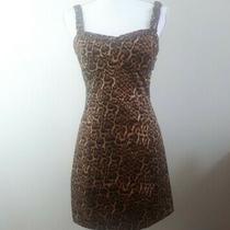 New Zara Large Size12 Leopard Animal Print Bodycon Dress Size 12 Grunge Punk Photo