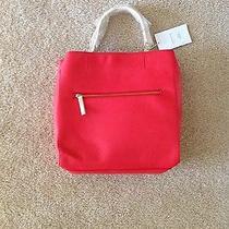 New Zara Red Leather Tote Bag Shoulder Bag Photo