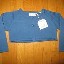 New Zara Toddler Girl's Blue Cropped Cardigan Sweater 18-24 Months Nwt Photo