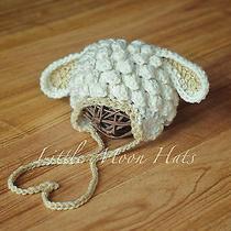 Newborn/baby Crochet Little Lamb Hat Photography Prop Photo